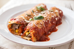 Flank Steak Enchiladas